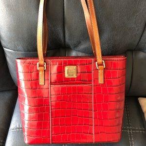 Red Leather Dooney & Burke Purse